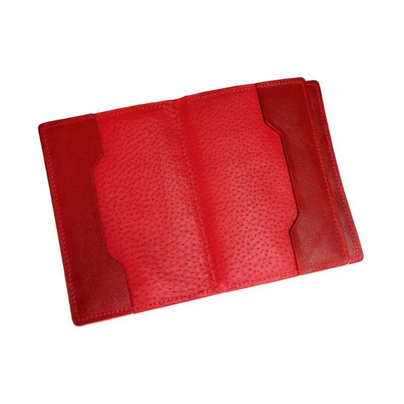dd893098ccec Обложка для документов, паспорта, автодокументов с отделом для карт Grande  Pelle 212660 красная