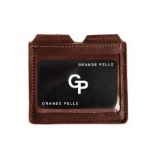 Кард-кейс Grande Pelle CardCase 307623 коньяк