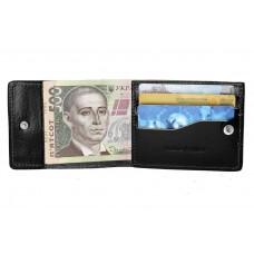 Кард-кейс Grande Pelle CardCase 308610 на кнопке tentare глянец черный