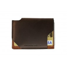 Кард-кейс Grande Pelle CardCase piccolo 30412023 коричневый и терракот