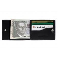 Кард-кейс Grande Pelle CardCase на кнопке tentare 308110 черный