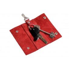 Ключница на кнопках Grande Pelle 405660 глянец красная