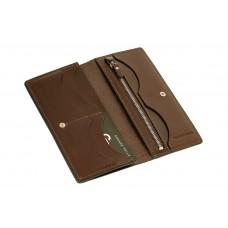 Портмоне Grande Pelle Сinturino 512620 темно-коричневое