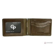 Зажим-портмоне Grande Pelle 107620 шоколад глянцевый