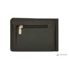 Зажим для купюр Grande Pelle ONDA 125610 черный с монетницей