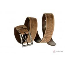Кожаный ремень Grande Pelle Blazer 312513100-1 тертый шоколад