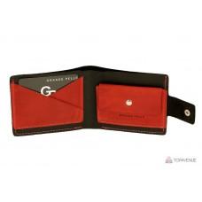 Портмоне Grande Pelle 54211060 черное с красным