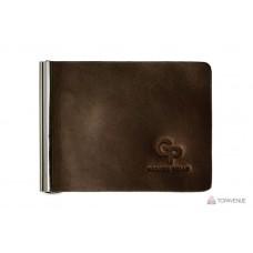 Зажим для купюр Grande Pelle 101120 коричневый