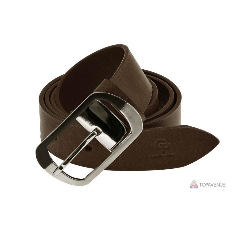 Шкіряний ремінь Grande Pelle жіночий Domenica 311204741 шоколад від ... e4264fad326b1