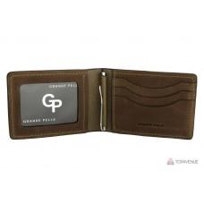 Зажим-портмоне Grande Pelle 107120 шоколад
