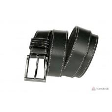 Кожаный ремень Grande Pelle Blazer 33051310012-1 чёрный прошитый