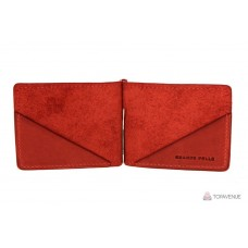 Зажим для купюр Grande Pelle 103160 красный