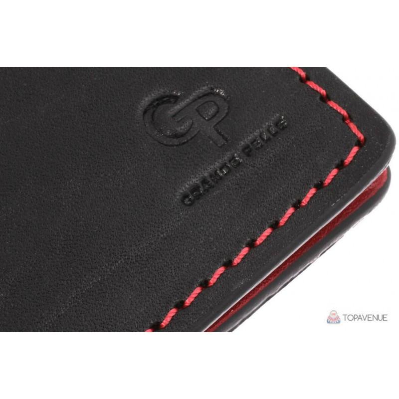 7bbb7615544f Обложка на Права, тех паспорт, удостоверение Grande Pelle 21151060  чёрно-красная