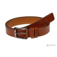 Кожаный ремень Grande Pelle Affari 334511212 коньяк прошитый