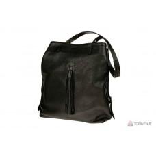 Рюкзак-сумка трансформер женский Grande Pelle 770710 черный