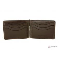 Зажим-портмоне Grande Pelle 109620 шоколад глянцевый