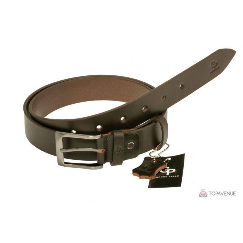 Шкіряний ремінь Grande Pelle Affari 311511200 шоколад від виробника ... 68c8419832336