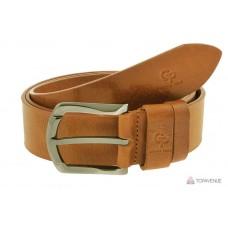 Кожаный ремень Grande Pelle Quadro 434508800 коньяк