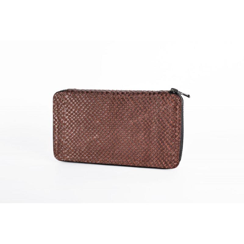 9d4a18c9ef52 Кожаный женский кошелек на молнии HARVEST BROWN коричневый купить в ...