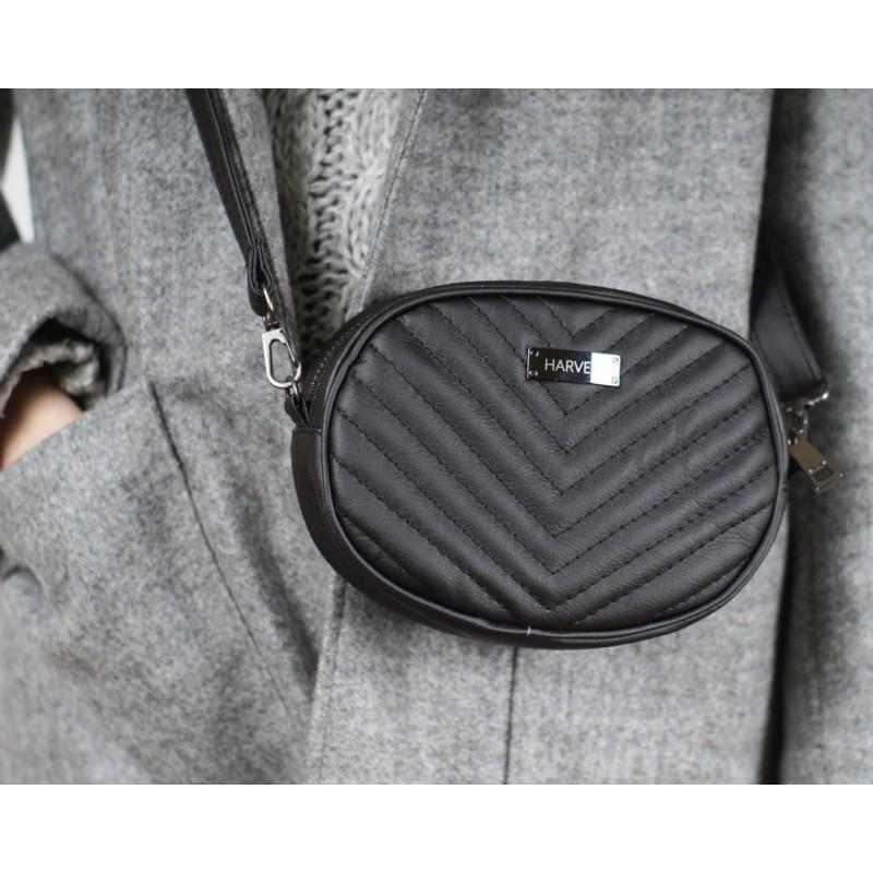 4f829d3193cc Стеганая черная сумка HARVEST с двумя ремешками купить в Киеве ...
