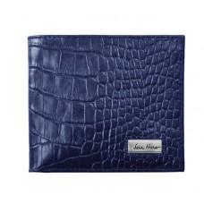 Портмоне IssaHara WB1 (23-00) синее крокодил
