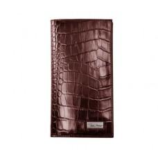 Портмоне IssaHara WB2 (22-00) коричневое крокодил