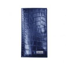 Портмоне IssaHara WB2 (23-00) синее крокодил