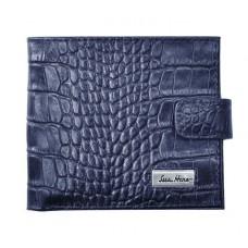 Портмоне IssaHara WB1-1 (23-00) синее крокодил