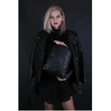 Женский кожаный рюкзак JIZUZ Pilot S Black Couture черный
