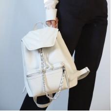Женский кожаный рюкзак JIZUZ Marcel белый