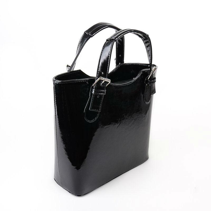 Жіноча лакова сумка М115-лак Z чорна — замовляйте недорого 0a5efe6774c6a
