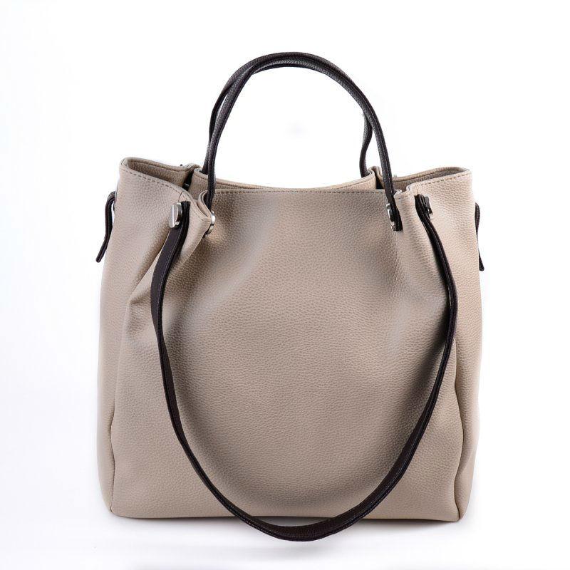 Жіноча сумка зі шкірозамінника М130-66 40 бежева від виробника ... 1b1d54893b5a4
