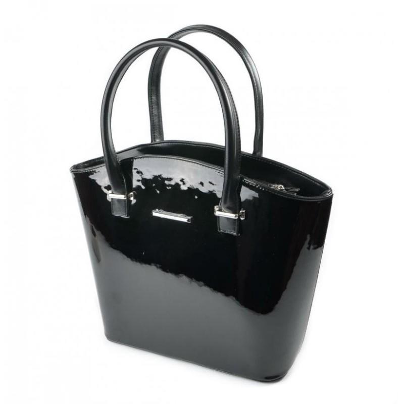 c60f68479b0a Женская лаковая сумка М64-лак чорный/Z Камелия купить в Киеве недорого