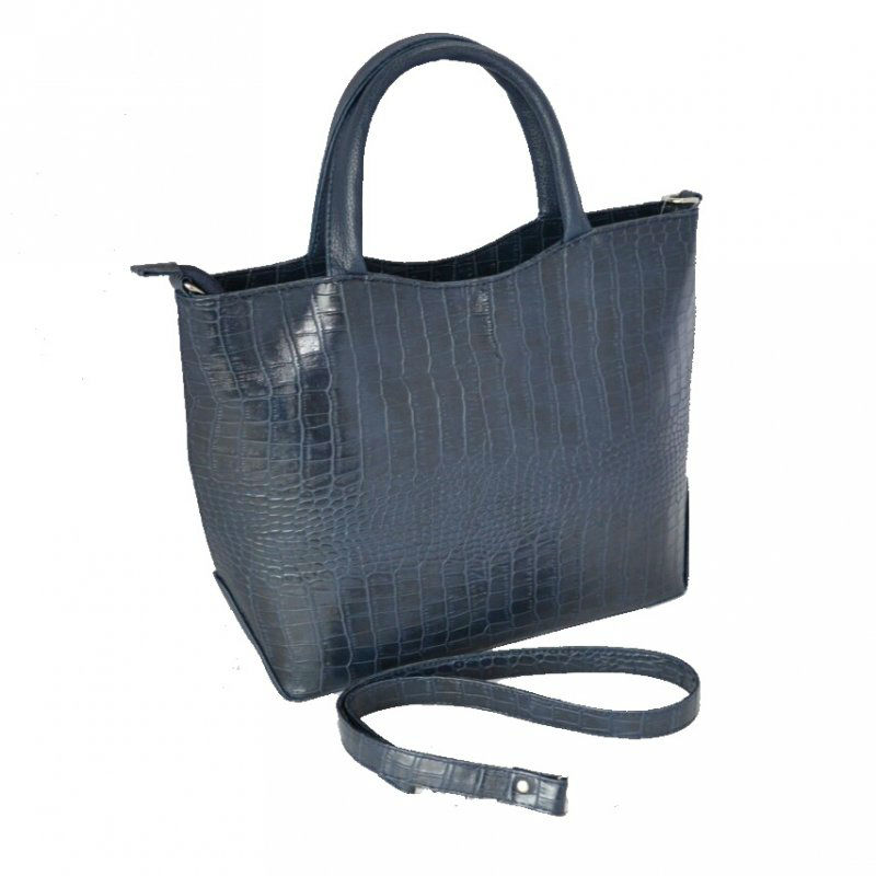 e421cfc36fb1 Женская сумка под кожу крокодила М75-11/39 синяя Камелия купить в ...