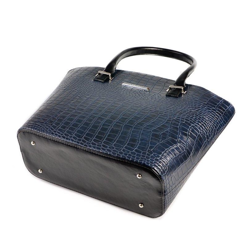 dd0237c0fff4 ... Женская сумка под кожу крокодила Камелия М64-11/Z синяя+черный ...