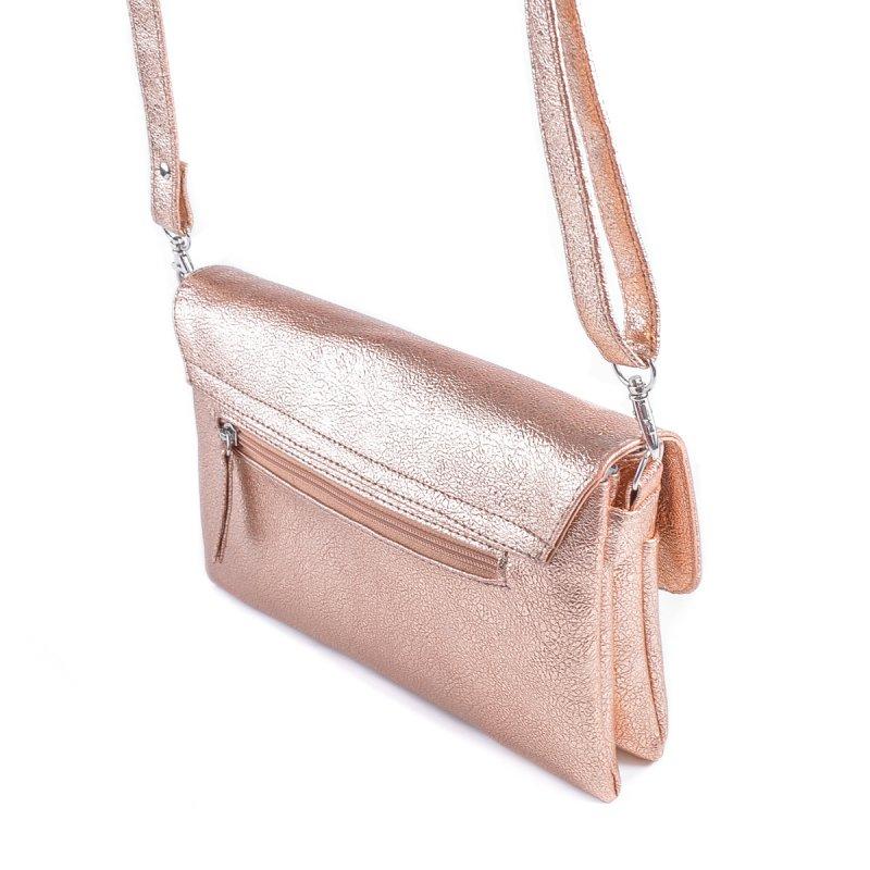4160f03bd544 ... Женская сумка на длинном ремне Камелия М110-89 бронза-золото ...