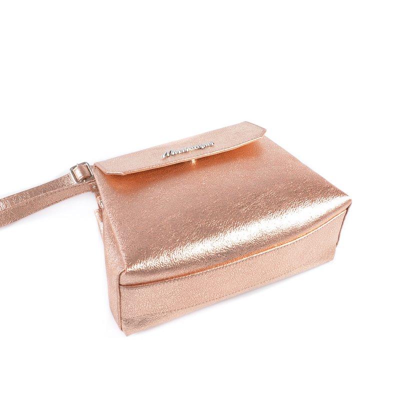70d1e1438ec9 ... Женская мини-сумочка с ремешком Камелия М126-89 бронза-золото ...