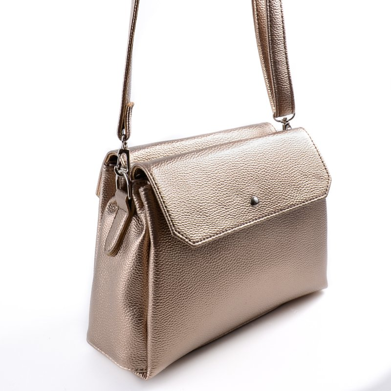 8df48923e1e4 Женская сумка с длинным ремешком Камелия М126-69 золотистая от ...