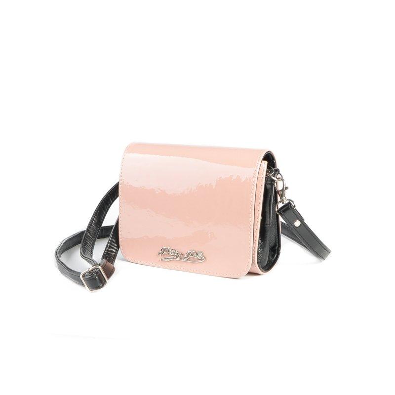 8de6cfcd0c5a Женский лаковый клатч Камелия М69-80/Z розовый(пудра)+черный от ...