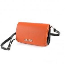 Женский клатч Камелия М63-2/Z оранжевый+черный