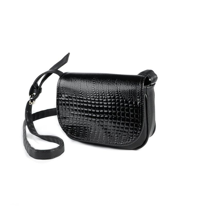 508868ed314f Жіноча маленька сумочка під шкіру пітона Камелія М55-47/14 чорна від ...