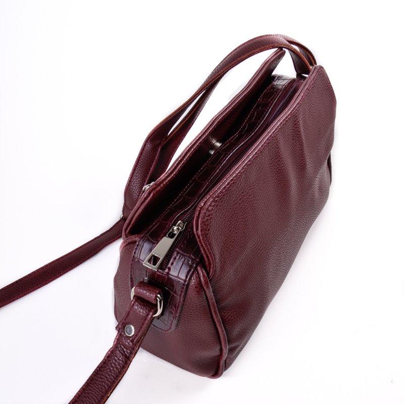 7984c4cbdf16 ... Женская сумка с длинным ремешком Камелия М128-38/37 бордовая ...