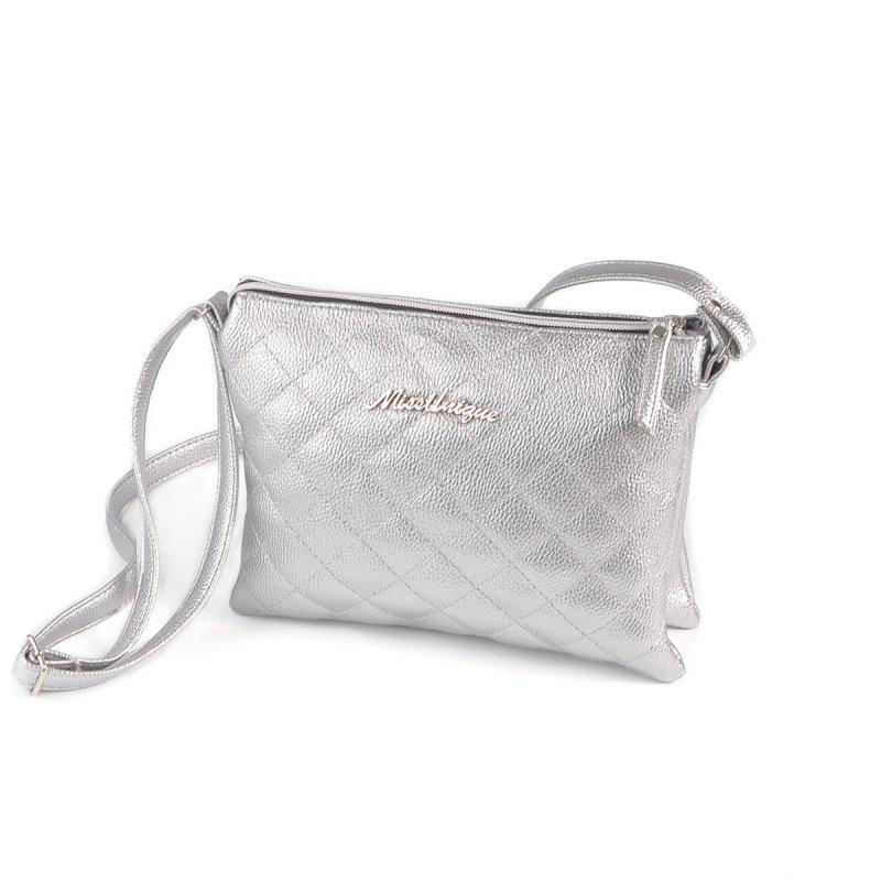 b3bcea317352 Женская сумка-шанель Камелия М105-72 серебряная от производителя ...