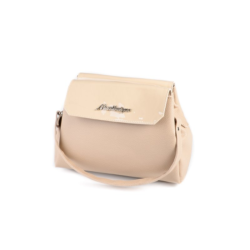 f392e3dfe9d8 Женская сумка на длинном ремешке Камелия М126-66/77 бежевая+молочный ...