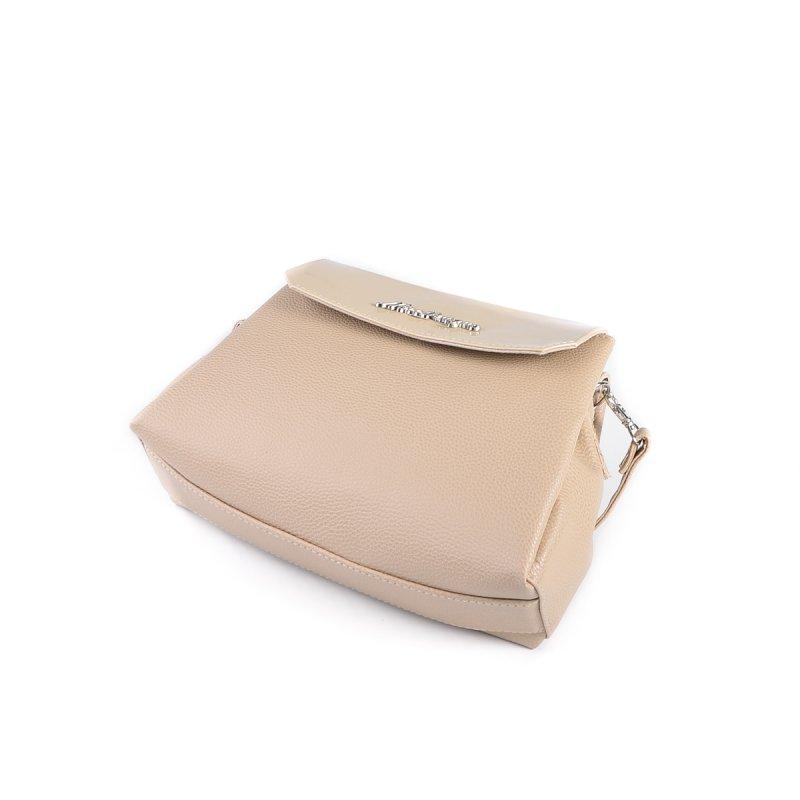 5d85e1dd1901 ... Женская сумка на длинном ремешке Камелия М126-66/77 бежевая+молочный ...