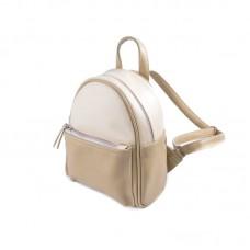 Женский маленький рюкзак Камелия М160-78/83 бежевый+молочный