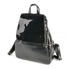 Жіночий повсякденний рюкзак Камелія М104-Z / лак чорний