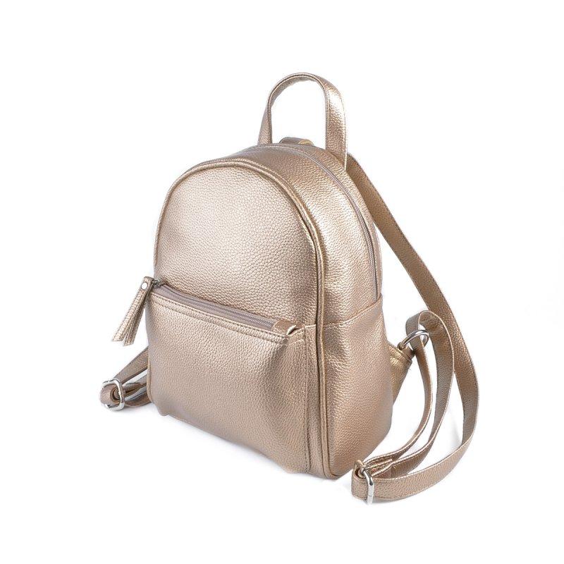 32e2fba7016d Женский маленький рюкзак Камелия М124-69 золотистый от производителя ...