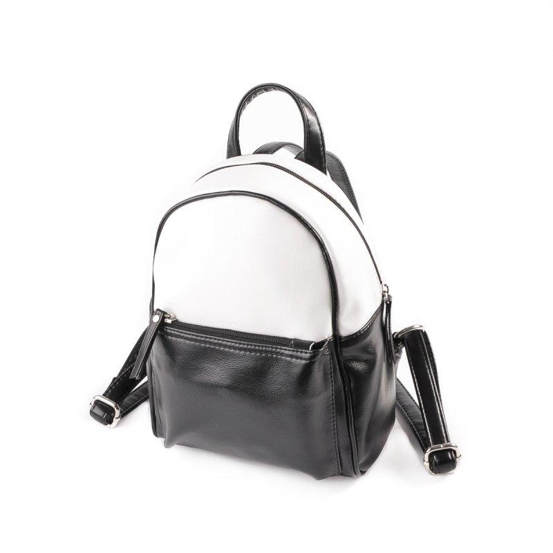 e95edfb0b8f5 Женский рюкзак из кожзама Камелия М124-Z/79 черный+белый от ...
