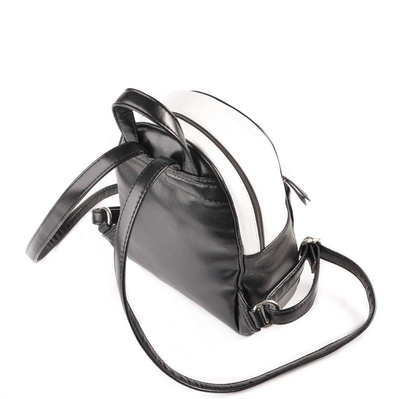 e6dd6b9d45b6 ... Женский рюкзак из кожзама Камелия М124-Z/79 черный+белый ...